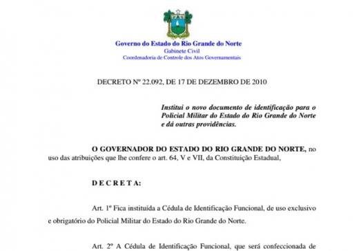 Diretoria de Pessoal suspende emissão de Identidades em virtude de mudanças no formato do RG
