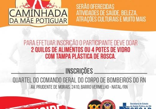 Inscrições da Caminhada da Mãe Potiguar começam nesta segunda-feira, 24