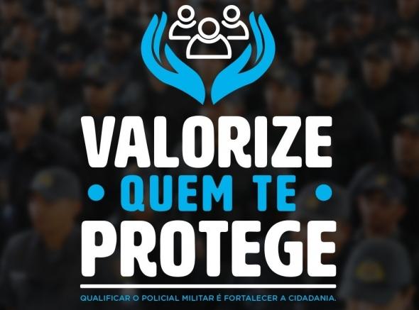 ASSPMBMRN participa de campanha para valorização do policial e bombeiro militar