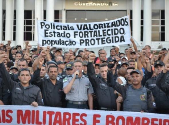 Policiais e bombeiros realizam mobilização nesta terça-feira, 10