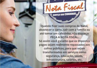 ASSPMBMRN apoia a campanha de conscientização da nota fiscal