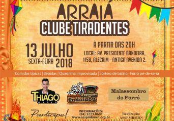 Clube Tiradentes realiza Arraiá Junino para associados